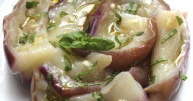 Melanzane, aglio e basilico. Ricetta