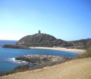 Torre di Chia, Spiaggia Su Portu
