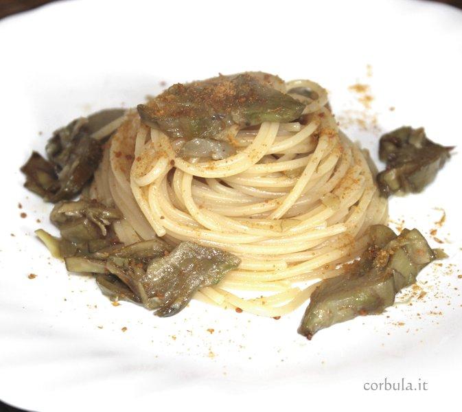 Pasta Carciofi e Bottarga. ricetta