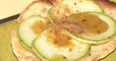 Carpaccio di zucchine e bottarga, ricetta