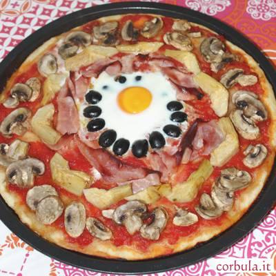 Pizza Capricciosa, fatta in casa
